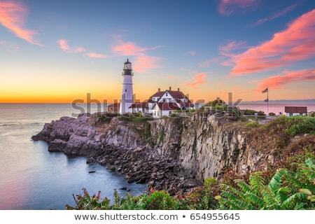 Portland Head Light (lighthouse) in Cape Elizabeth, Maine, USA Stock photo © CaptureLight