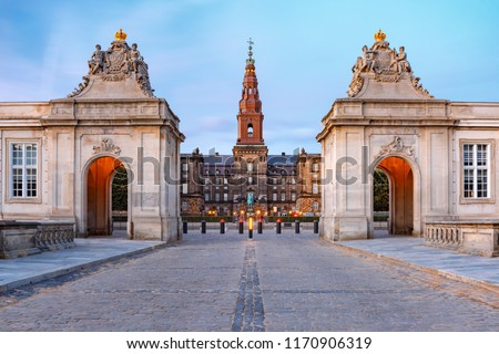 дворец Копенгаген Дания статуя царя Сток-фото © vladacanon