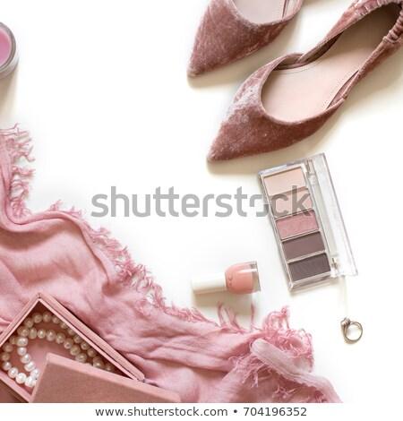 gyönyörű · nő · gyöngy · karkötő · fülbevalók · szépség · luxus - stock fotó © elnur