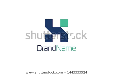 Stock photo: Logo Shapes and Icons of Letter H