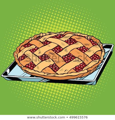 Berry pie on iron pallet Stock photo © studiostoks