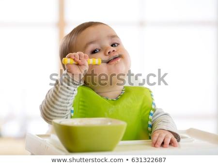 три · месяц · ребенка · белый · фон · красоту - Сток-фото © sapegina