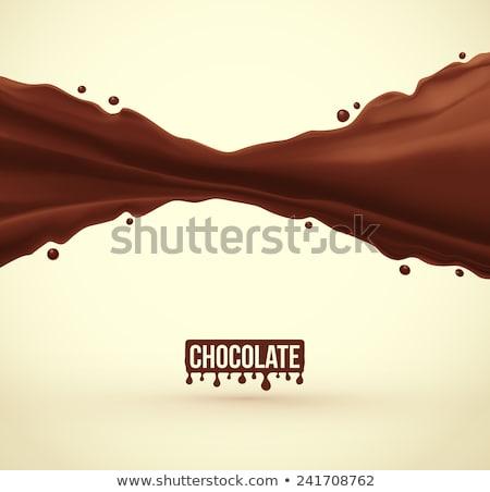 Wavy chocolate background. EPS 10 Stock photo © beholdereye
