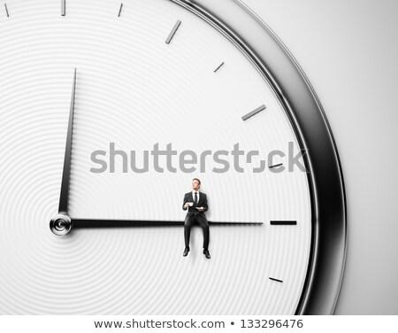 午前 · 時間 · 制御 · 手 · クロック · 白 - ストックフォト © devon