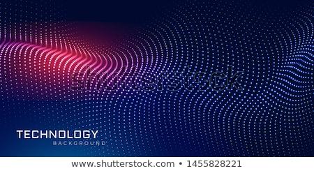 Digitális részecskék hullám háló technológia terv Stock fotó © SArts