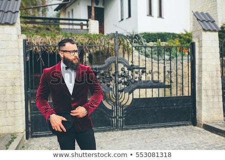 Ricca uomo giacca casa barba pensare Foto d'archivio © tekso