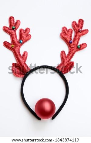Piros orr szarvas kreatív fotó kötél Stock fotó © Fisher