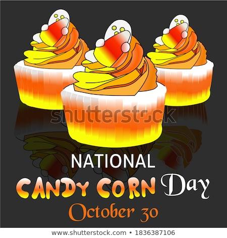 30 dulces maíz día calendario tarjeta de felicitación Foto stock © Olena