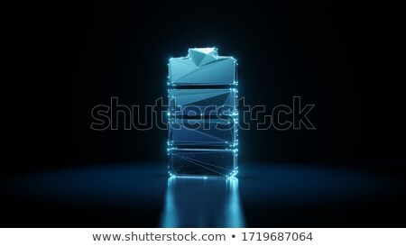 Stock photo: Electric Battery Full Charge on Floor