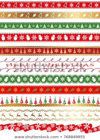karácsony · dekoráció · spektrum · szín · szett · szivárvány - stock fotó © olgayakovenko