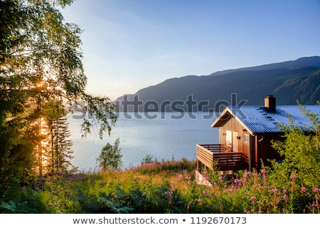 Sundown by a lake Stock photo © IS2