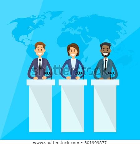 indiano · empresária · discurso · corporativo · pessoas · de · negócios · isolado - foto stock © studioworkstock