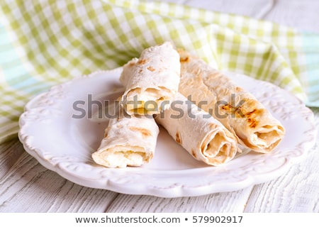 wrap with cheese and salmon Stock photo © M-studio