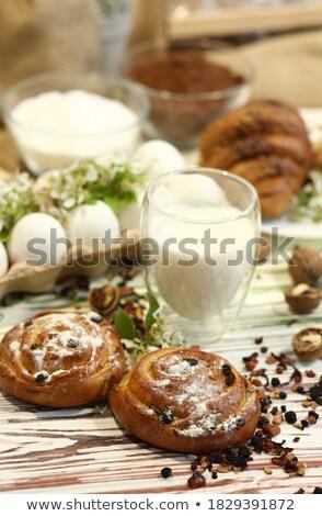 vidro · doce · passas · de · uva · branco · tabela - foto stock © Digifoodstock
