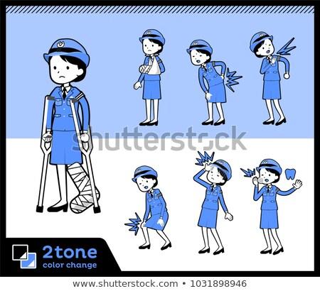 2tone type police Women_set 08 Stock photo © toyotoyo