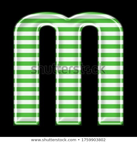 Black and Green Letter M with a Thick Stripe and Reflection Vect Stock photo © cidepix