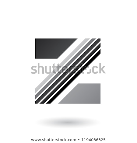 Grey Letter Z with Thick Diagonal Stripes Vector Illustration Stock photo © cidepix