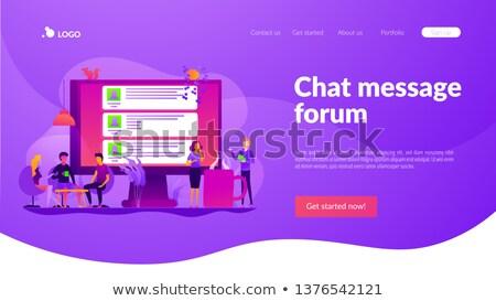 Internet fórum aplicativo interface modelo comprimido Foto stock © RAStudio