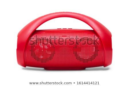 Klein Rood muziekspeler geïsoleerd Stockfoto © magraphics