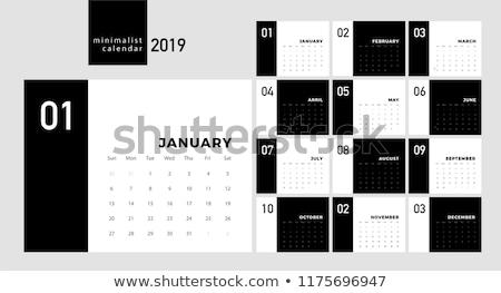 Biurko kalendarza minimalny stylu biuro projektu Zdjęcia stock © SArts