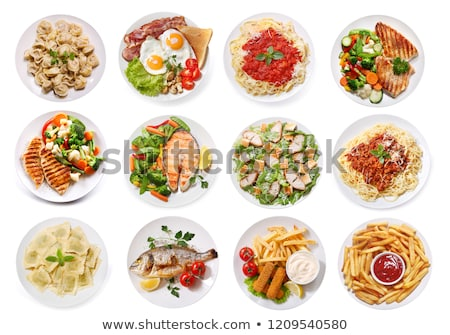 Set of food on dished Stock photo © bluering
