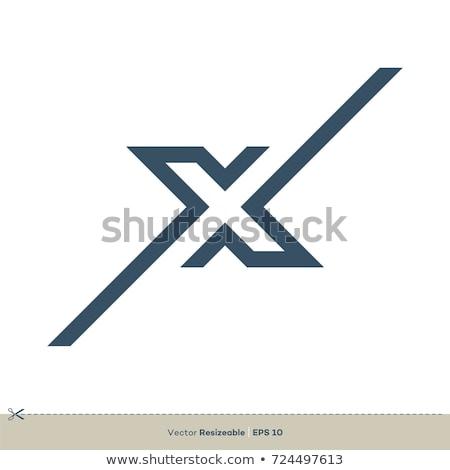 Kék logotípus ikon levél betűtípus üzlet Stock fotó © blaskorizov