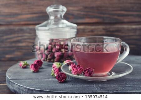 закрывается чай стекла банку сердце подарок Сток-фото © grafvision