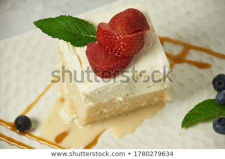 3  ミルク ケーキ マスカルポーネ クリーム ココナッツ ストックフォト © YuliyaGontar