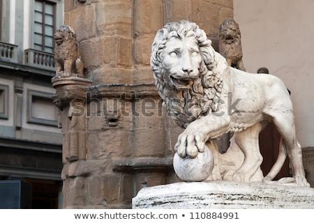 ライオン · 彫刻 · フィレンツェ · 画像 · イタリア · 石 - ストックフォト © boggy