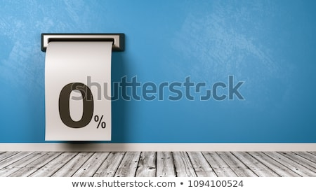 Receipt Coming Out from the Wall of the Room, Domestic Expenses Concept Stock photo © make