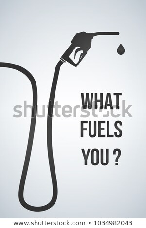 What fuels you banner. Gasoline pump nozzle sign.Gas station ico Stock photo © kyryloff