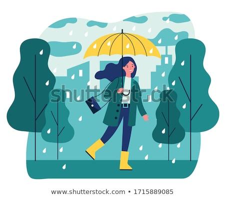 Chuvoso temporada ilustração japonês materialismo nuvens Foto stock © Blue_daemon