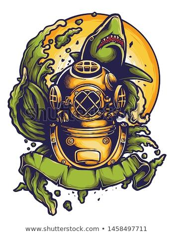ретро глубокий морем Diver металл шлема Сток-фото © studiostoks