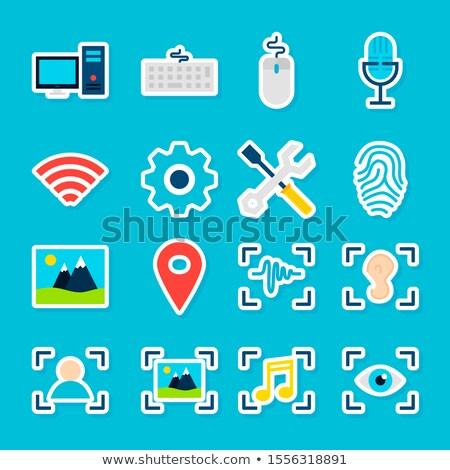 Big Data AI Stickers Stock photo © Anna_leni