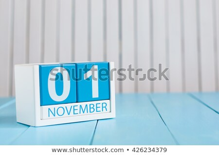 Cubes calendar 1st November Stock photo © Oakozhan