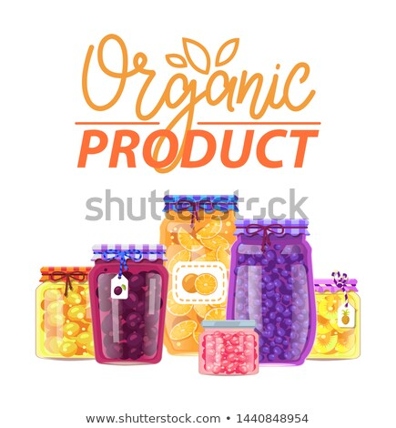 Fruits and Berries in Bin, Organic Product Vector Stock photo © robuart