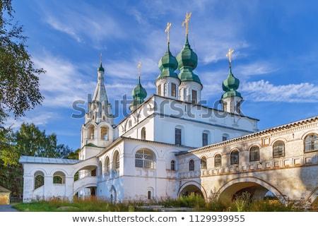 Mosteiro Rússia catedral edifício verão azul Foto stock © borisb17