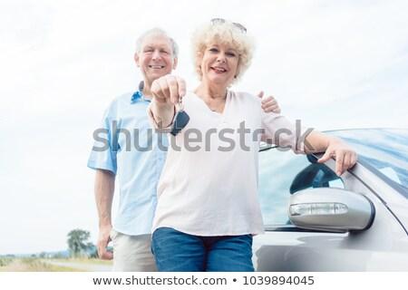 Gelukkig kaukasisch poseren naar Stockfoto © wavebreak_media