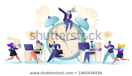 Lavoro tempo pressione uomo laptop ufficio Foto d'archivio © AndreyPopov