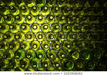 Empty wine bottles stacked-up on one another Stock photo © boggy