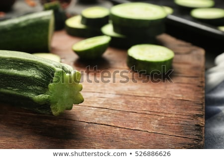 Sliced fresh zucchini seasoned with herbs Stock photo © Giulio_Fornasar