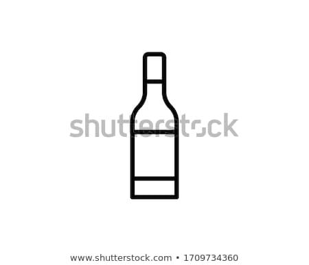 Resfriamento garrafa de vinho ícone vetor ilustração Foto stock © pikepicture