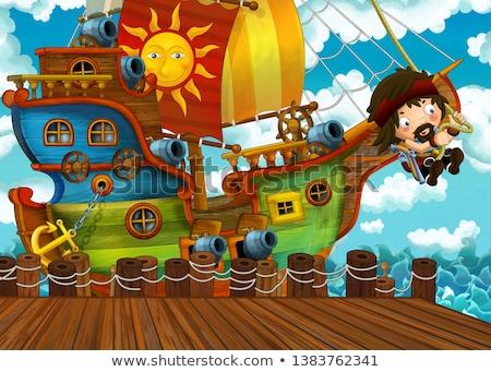 Cena pirata tesouro ilha ilustração Foto stock © bluering