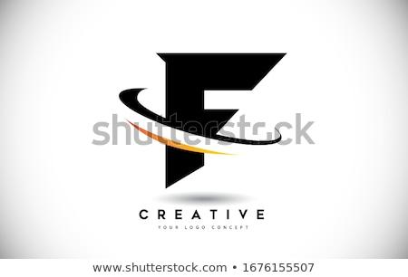 F Letter vector icon design Stock photo © Ggs