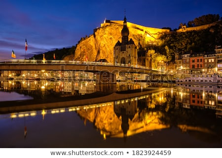 Nacht stad België kerk lady Stockfoto © dmitry_rukhlenko