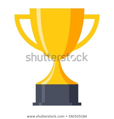 Vecteur victoire tasse trophée symbole design Photo stock © nickylarson974