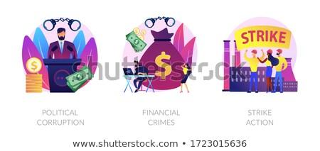 Politiek criminaliteit vector metafoor advocaat Stockfoto © RAStudio