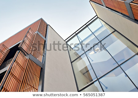 Modern apartment building house with reflection Stock photo © dmitry_rukhlenko
