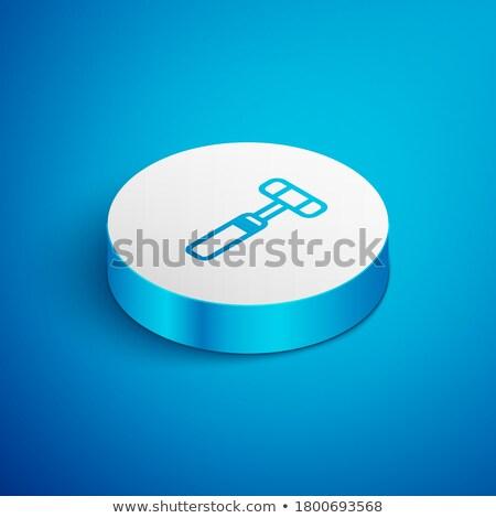 Refleks çekiç izometrik ikon vektör imzalamak Stok fotoğraf © pikepicture