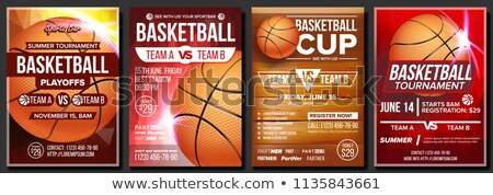 Basketball Business Card And Poster Stockfoto © pikepicture